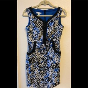 London Times Petite Print Dress EUC Size 6P